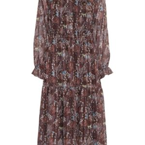 Continue - Kjole - Daisy Dress - Rust Flower