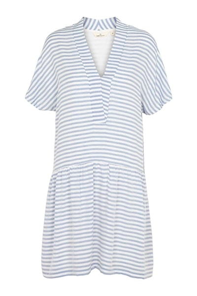 Basic Apparel - Kjole - Jenice Dress - Blue Stripe