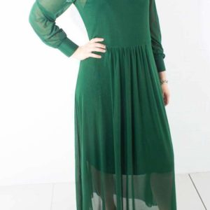Thora Lucia Dress - Forest Green - Bruuns Bazaar - Grøn XS