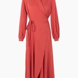Olivia Wrap Dress - Burnt Sienna - Storm & Marie - Rød 34