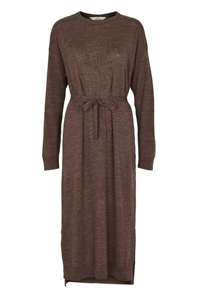 Basic Apparel - Kjole - Vera Dress - Brown Melange