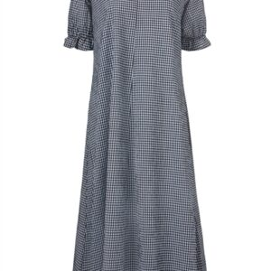 Modström - Kjole - Clementine Check Dress - Blue Black Check