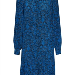Gestuz - Kjole - Lorali Dress - Blue Black Vintage