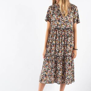 Nakki Dress - Black - Moves - Blomstret XL