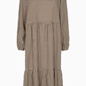 Vatti Midi Dress - Cocoon - Moves - Sort/brun XS