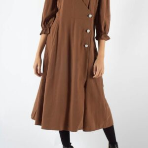 Mamos Maxi Dress - Tabacco Brown - Moves - Brun XS