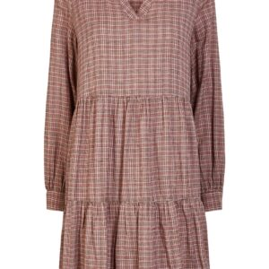 Pieces - Kjole - PC Nilena LS Dress - Misty Rose Checks