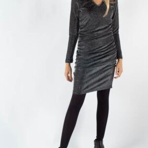 Veala Short Dress - Dark Silver - Moves - Sølv M