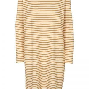 Basic Apparel - Kjole - Vendela LS Dress - Inca Gold/Off white