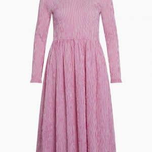 Crinckle Pop Docca Dress - Pink/White - Mads Nørgaard - Pink XS