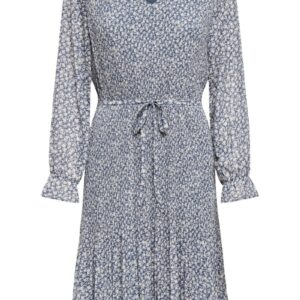JDY - Kjole - Emma L/S Pleat Below Knee Dress - China Blue
