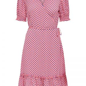 JDY - Kjole - Piper 2/4 Wrap Smock Dress - Geranium Pink