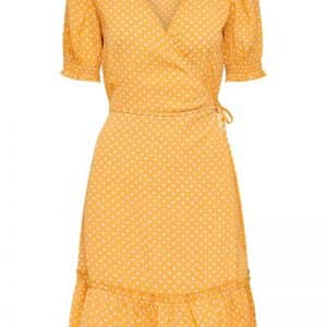 JDY - Kjole - Piper 2/4 Wrap Smock Dress - Golden Apricot