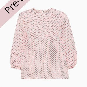 Rosa Blouse AV1796 - White With Red Dots - A-View - Prikket XS
